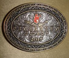 NEW 2017 PENDLETON WHISKY WHISKEY BELT BUCKLE MONTANA SILVERSMITHS COWBOY RODEO