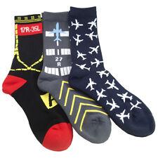 Aviation-Themed Premium Crew Socks - 3-PAIR SET  by Luso Aviation