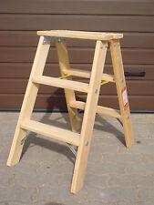 Doppelstufenleiter Tritt Stufenleiter Holz Leiter Holzleiter  2x 3 Stufen