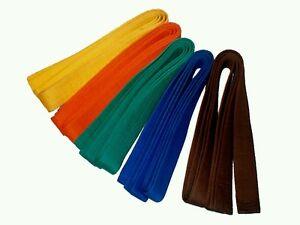 Budo Gürtel einfarbig. Judo, Karate, Taekwondo, Kickboxen, Ju Jutsu,Budogürtel.