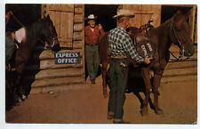 Frontier Town NY (North Hudson, Essex Co) cowboys saddling Pony Express
