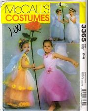 McCall's Fairy Princess Costume Sewing PATTERN FOR Children Sizes 3-4, 5-6, 7-8