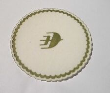 "MALAYSIA AIRLINES Drink Coaster Mat Paper Fabric Wayang Logo 3.5"" Dia MH 2009"