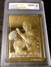 DAN MARINO 2000 GEMMT 10 LIMITED EDITION 23KT GOLD CARD! MIAMI DOLPHINS HOF