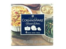 Corningware French White Bakeware Set 6 Piece with Lids