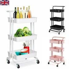 More details for 3 tiers salon hairdresser barber hair storage trolley beauty drawer spa cart uk