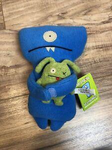 Uglydoll Plush Uglybuddies Blue Wedgehead & Ox Plush Dolls