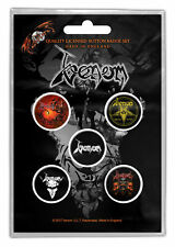 Venom Buttons Pack Of 5 - Music Band Set Officially Licensed Bb12
