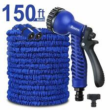 New listing Super Long Reach Blue Easy See 150-Ft Expanding Garden Hose w 7-Setting Sprayer