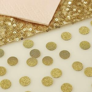 Ginger Ray Gold Sparkle Glitter Table Confetti for Wedding/Party - Pastel