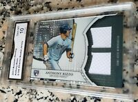 ANTHONY RIZZO 2011 Bowman XFractor Dual Relic SP Rookie Card RC 9/199 GEM 10 HOT
