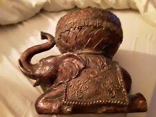 Elephant Bowl Resin Statue Unique Lucky Home Decor Figurine India feng shui