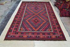 14'1 x 7'8 Large Handmade Afghan Tribal Kilim Wool Area Rug Kelim Carpet #4603