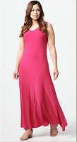 Attitudes by Renee Petite Como Jersey Maxi Dress - Rose - P2X