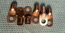 Quantity of (6) Bright Heavy Copper Lugs for size 3/0 AWG stranded wir