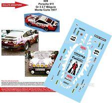 Decals 1/18 réf 699   Porsche 911  Gr 3 2,7 l Béguin  Monte Carlo 1977