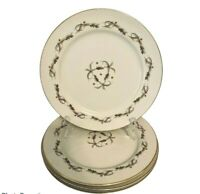 """VINTAGE 10"""" Dinner Plates in MODERN SCROLL (6030) by Kyoto Fine China Set Of 4"""