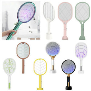 2 in 1 LED Mosquito Swatter Rechargeable USB Silent Insect Trap Mosquito Light