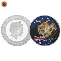 WR 2017 Australia Tasmanian Quoll 3D Silver Coin Queen Elizabeth II $1 Souvenirs