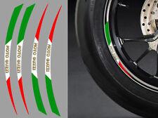 "4 X STICKERS ITALIE ROUE JANTE 17"" MOTO GUZZI AUTOCOLLANT MOTO STICKER RA087MG"