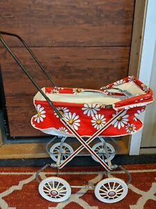 Vintage Baby doll bassinet stroller carriage buggie pram toy