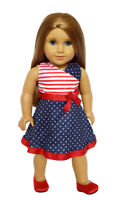 American Pride Dress for American Girl Dolls 18 Inch Doll Clothes
