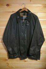 "Men's Barbour Beaufort 44"" Blue Wax Jacket Coat A196"