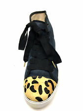 Kate Spade New York linus denim & calf hair high-top Sneaker Size 8 U.S.