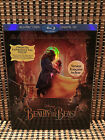 Beauty and the Beast (2-Disc Blu-ray/DVD, 2017)+Embossed Slipcover.Disney Remake