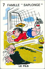 FOOTBALL SPORT PLAYING CARD CARTE À JOUER HUMOR HUMOUR 60s