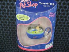 NIP Littlest Pet Shop TAKE ALONG CLIP-ON Cat with Fish Bowl