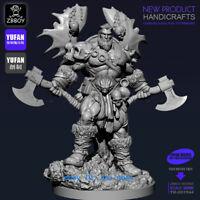 1/18 Scale God Of War With Axe Resin Figure Model Kits YUFAN Model 90mm Statue