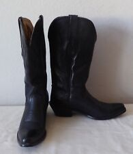 NOCONA BOOTS WOMENS BLACK LEATHER WESTERN COWGIRL SIZE 6B SNIP TIP TOE