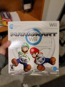 Nintendo Mario Kart Wii w Steering wheel SEALED!!!!