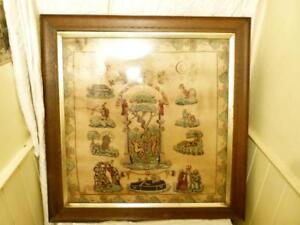 """c1830 THE LOYAL UNITED FREE MECHANICS Silk Printed Banner 30"""" Squ Find Another !"""