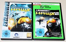 2 giochi PC Bundle-Tom Clancy's H.A.W.X. 1 & 2-DVD ROMA-HAWX Shooter