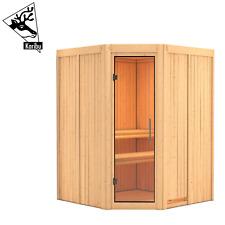Karibu Sauna Saunahaus Heimsauna Elementsauna Innensauna Fichte LIVA 196x196 cm