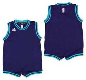 Adidas NBA Infants Charlotte Hornets Road Team Romper, Purple
