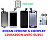 ECRAN LCD COMPLET VITRE TACTILE IPHONE 6 NOIR BLANC CAMERA BOUTON HOME + OUTIL