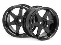 HPI 3846 TE37 WHEEL 26mm BLACK (6mm OFFSET) [1/10 TOURING CAR 26mm WHEELS] NEW!
