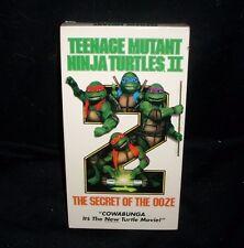 TEENAGE MUTANT NINJA TURTLES SECRET OF THE OOZE COLOR VHS KIDS MOVIE TAPE 88 MIN