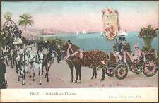 06 NICE CARTE POSTALE BATAILLE DE FLEURS  ATTELAGES 1906