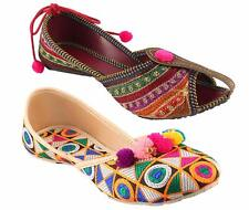 Indian Women's Handmade Shoes Rajasthani Sandal Latest Designs Free Shipping