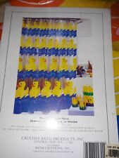 "Swimming Yellow Rubber Duckies Shower Curtain vinyl 70"" x 72"" inch Thick vinyl."