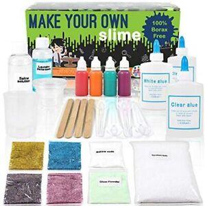 Slime Making Kit DIY Design Own Slime Glow in Dark Slime Kids Fun Play SALE
