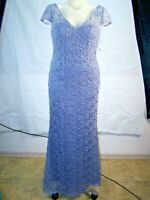 New Women's JS Collections Evening Prom Lace Gown Lined Gray Size 6