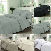 Luxurious Duvet Cover Set Single Double Super King Size Pleated Bedding Set