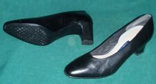 Easy Spirit Womens Size 9.5 Black Leather Pumps Heels Used Shoes