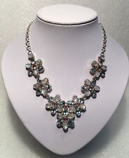 WOW Incredible - Sky Blue Topaz, Moonstone & Amethyst Solid 925 Silver Necklace