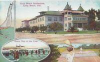 Long Beach Sanitarium Long Beach California Promotional Post Card 1910